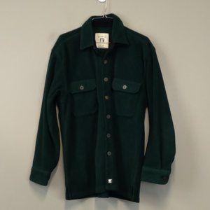 Juneau Green Fleece button up Men's shirt